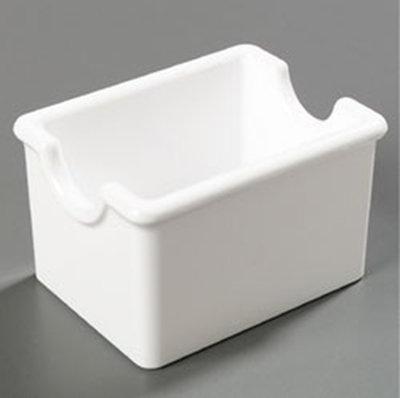 Carlisle 455002 Sugar Packet Caddy - 20-Packet Capacity, Styrene, White