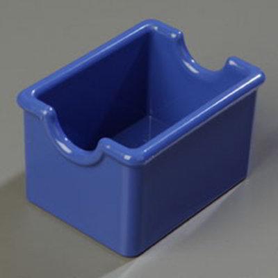 Carlisle 455014 Sugar Packet Caddy - 20-Packet Capacity, Styrene, Ocean Blue