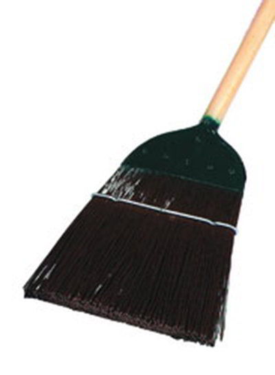 "Carlisle 4564901 54"" Upright Broom - Metal Top, Brown"