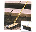 "Carlisle 4575703 13"" Stadium Broom - Dual Angle Bristles, Black"