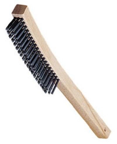 "Carlisle 4577000 13-3/4"" Wire Brush - Wood/Carbon Steel"