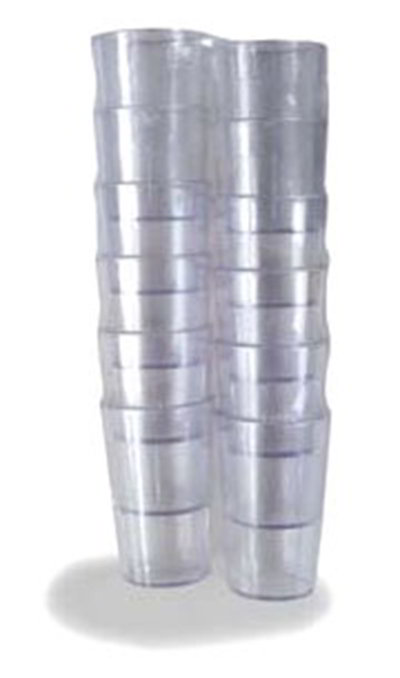 Carlisle 5501-807 5-oz Large Pack of SAN Stackable Tumbler, Clear