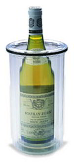 Carlisle 559003 Insulated Wine Holder, Clear w/ Black Band