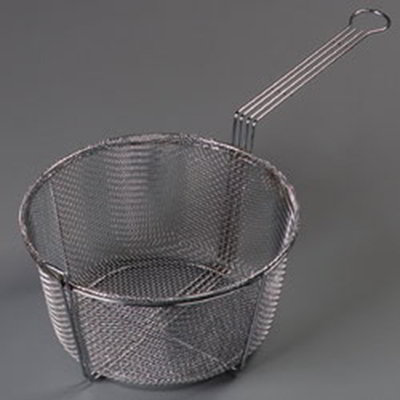 "Carlisle 601002 11.5"" Round Fryer Basket, Nickle Plated"