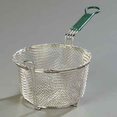 "Carlisle 601028 8.75"" Round Fryer Basket, Nickle Plated"