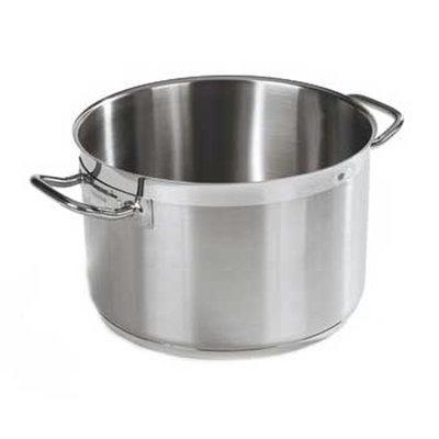 Carlisle 601111 10-qt Saucepan - Induction Compatible, 18/10 Stainless