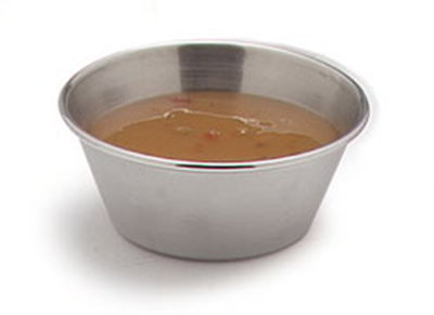 Carlisle 602500 2-1/2-oz Classic Sauce Cup - 18/8-Stainless Steel