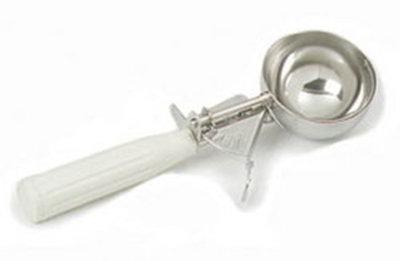 Carlisle 60300-10 3.8-oz Disher - Size 10, Plastic/Stainless, Ivory