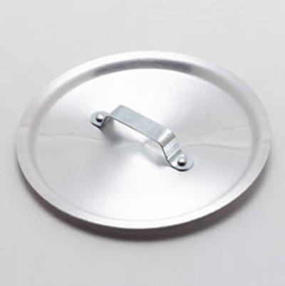 Carlisle 60422 8-in Flat Cover w/ Handle, Heavy Duty Aluminum