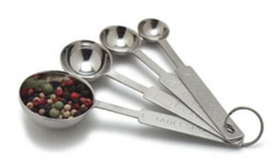 Carlisle 604300 Measuring Spoon Set - 1/4-tsp - 1-tbsp, Stainless Steel