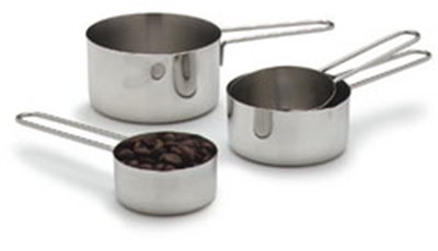 Carlisle 604310 Measuring Cup Set - 1/4-cup - 1-cup, Stainless Steel