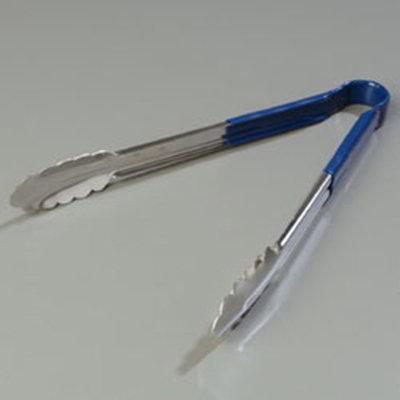 "Carlisle 60756214 12"" Utility Tongs - Stainless/Blue"