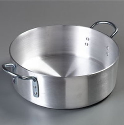 Carlisle 60766 18-qt Heavy Weight Brazier Pot w/ 2-Loop Handles, Aluminum