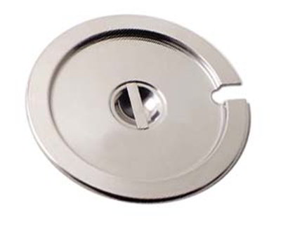 Carlisle 607711CS 11-qt Inset Cover - Notched Handle, Stainless Steel