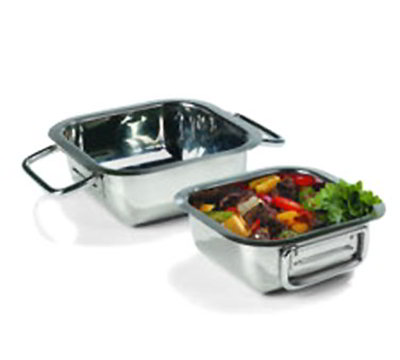 "Carlisle 609083 8.3"" Square Display Dish - Stainless"