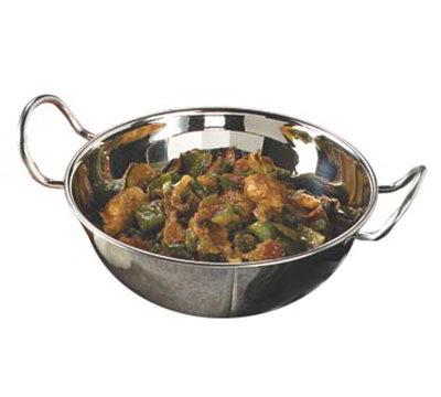 "Carlisle 609093 6-3/4"" Round Balti Dish - Stainless"