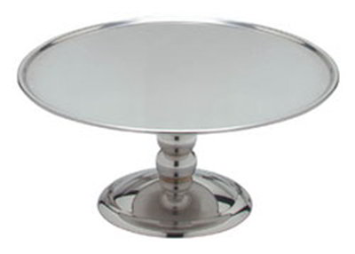 Carlisle 609168 14-in Round Cake Display Stand, Polished Stainless