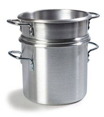 Carlisle 60921 12-qt Double Boiler Stock Pot - Aluminum