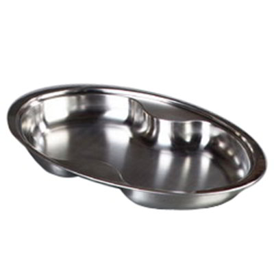 Carlisle 609510F 6-qt Oval Chafer Food Pan - 2-Compartment, Mirror-Finish Stainless