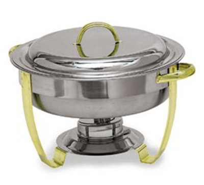 Carlisle 609530 4-qt Round Chafer - Lift Off Lid, Stainless Steel