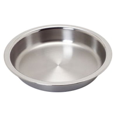 Carlisle 609530F 4-qt Round Chafer Food Pan - Mirror-Finish Stainless