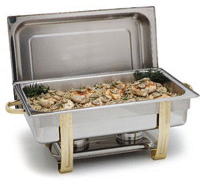 Carlisle 609550 8-qt Rectangular Chafer - Dripless Water Pan, Stainless Steel