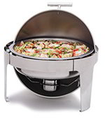 Carlisle 609578 6-qt Round Chafer - Roll Top, Stainless
