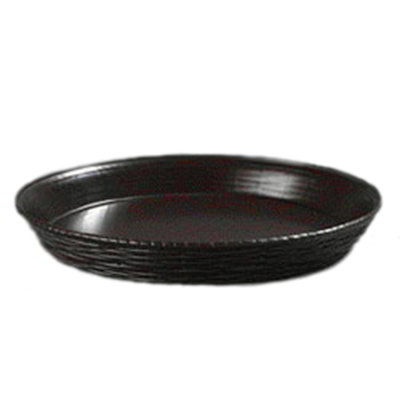 "Carlisle 652601 12"" Round Basket - Wicker Weave Pattern, Polypropylene, Brown"