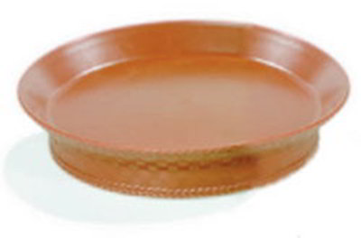 "Carlisle 652731 10-3/8"" Round Basket - Wicker Weave Pattern, Polypropylene, Light Brown"