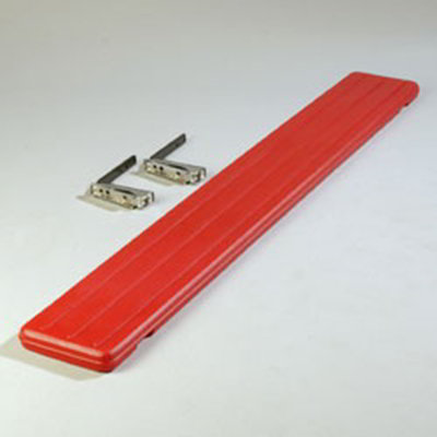 "Carlisle 662105 Food Bar Tray Slide - Drop Down, 68-3/4x8-1/2x1-3/4"" Red"