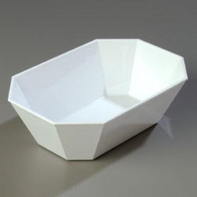 "Carlisle 671302 5-lb Octagonal Deli Crock -  10-5/8x7-3/16"" White"
