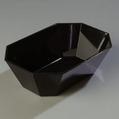"""Carlisle 671303 5-lb Octagonal Deli Crock -  10-5/8x7-3/16"""" Black"""