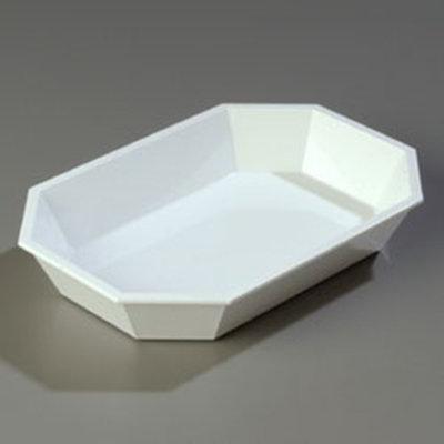 "Carlisle 672302 2.5-lb Octagonal Deli Crock - 10-1/2x7"" White"