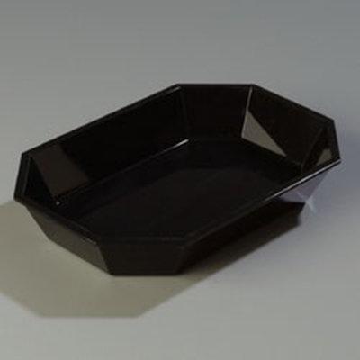 """Carlisle 672303 2.5-lb Octagonal Deli Crock - 10-1/2x7"""" Black"""