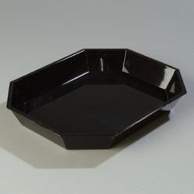 """Carlisle 672603 5-lb Octagonal Deli Crock - 13-5/16x10-1/2"""" Black"""