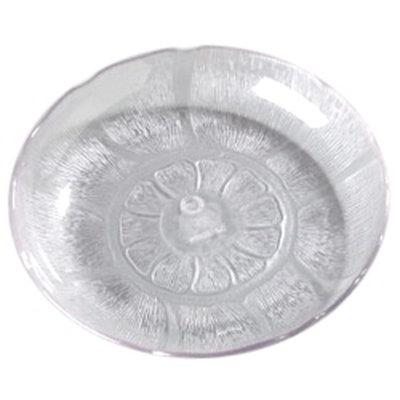 """Carlisle 6907-807 8"""" Petal Mist Soup/Salad Plate - Polycarbonate, Clear"""