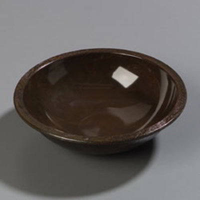 "Carlisle 708011 8"" Salad Bowl - Walnut Woodgrain"