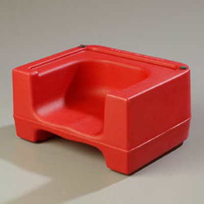 Carlisle 711005 Dual Booster Seat - Polyethylene, Red