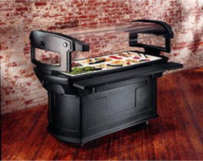 Carlisle 771103 Maximizer Food Bar - (6)Full-Size Pan Capacity, Polyethylene, Black
