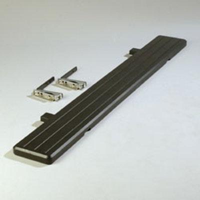 "Carlisle 772103 Food Bar Tray Slide - 68-3/4x8-1/2x1-3/4"" Black"