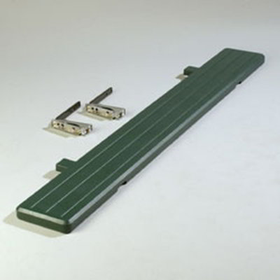 "Carlisle 772108 Food Bar Tray Slide - 68-3/4x8-1/2x1-3/4"" Forest Green"