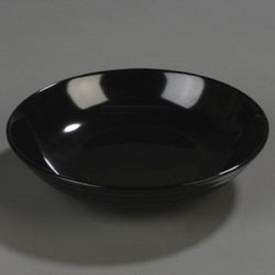 "Carlisle 791003 10-1/2"" Designer Pasta Bowl - Melamine, Black"