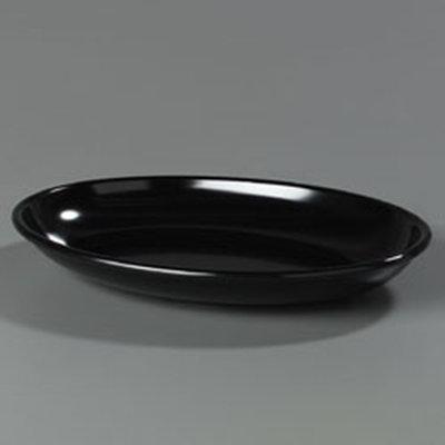"""Carlisle 791403 Designer Oval Platter - 14x10"""" Melamine, Black"""