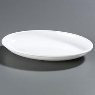 """Carlisle 791802 Designer Oval Platter - 19x13-3/4"""" Melamine, White"""