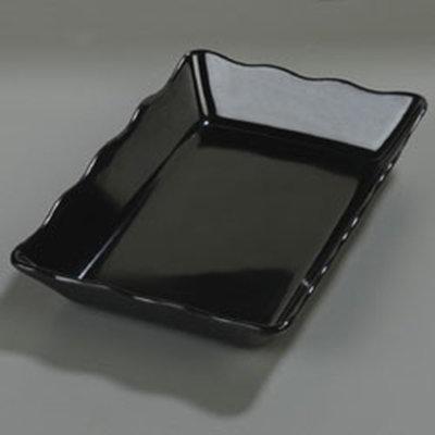 """Carlisle 793003 Rectangular Baker Platter - 14x9-13-16"""" Melamine, Black"""