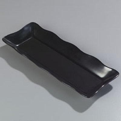 "Carlisle 793203 Rectangular Platter - 18x7"" Melamine, Black"