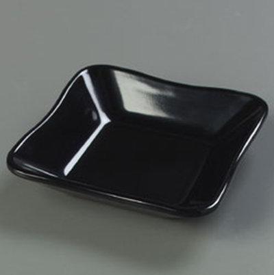 "Carlisle 793403 5-1/2"" Platter Inset Dish - Melamine, Black"