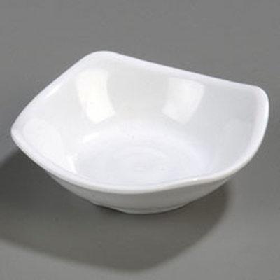 Carlisle 794002 2-oz Square Side Dish - Melamine, White