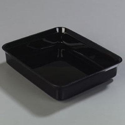 """Carlisle 882103 10-lb Deli Crock - 12x10"""" Black"""