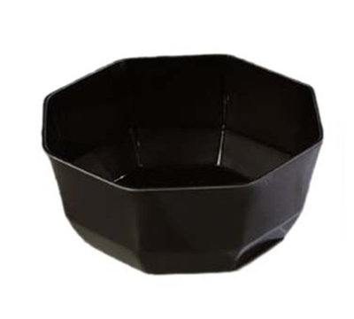 "Carlisle 888603 7-1/8"" Octagon Serving Bowl - Acrylic, Black"